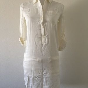 Lacoste Shirt Dress White Size 0/32(IT)